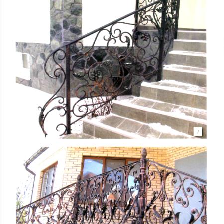 Кованные изделия, перила, поручни, балконные решетки