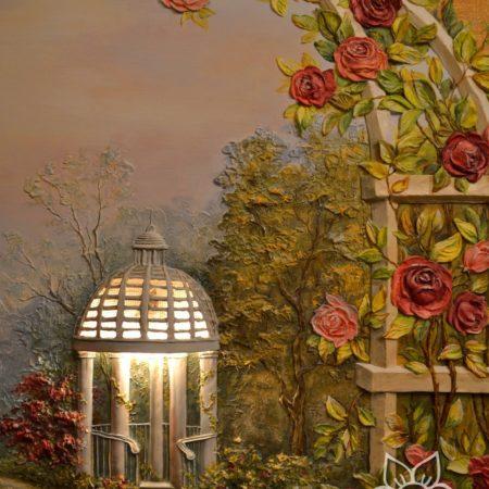 Декоративная арка, Розы