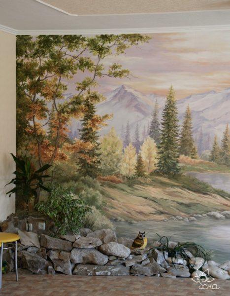 Трафареты для росписи стен или рука мастера?