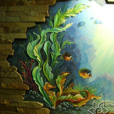 """akva3 450x450 - Барельеф в бассейне """"Аквариум с рыбками"""""""