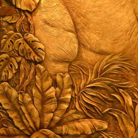 DSC 1791 450x450 - Декоративное панно «Слоны»