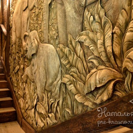 DSC 1800 450x450 - Декоративное панно «Слоны»