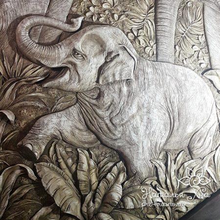 mini elephant 450x450 - Декоративное панно «Слоны»