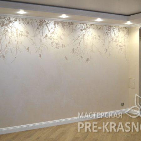 Роспись стены акриловыми красками, Наталья Хна