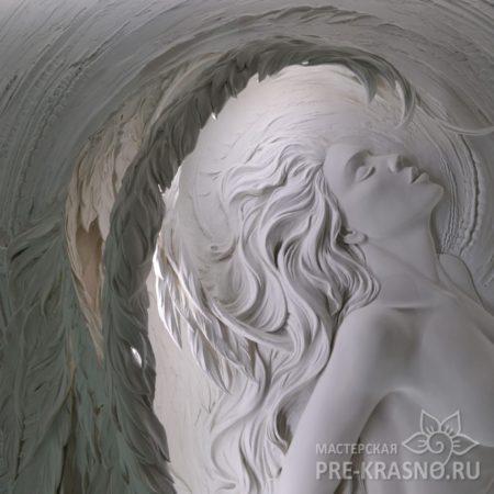 Барельеф из гипса Чужой. Наталья Хна