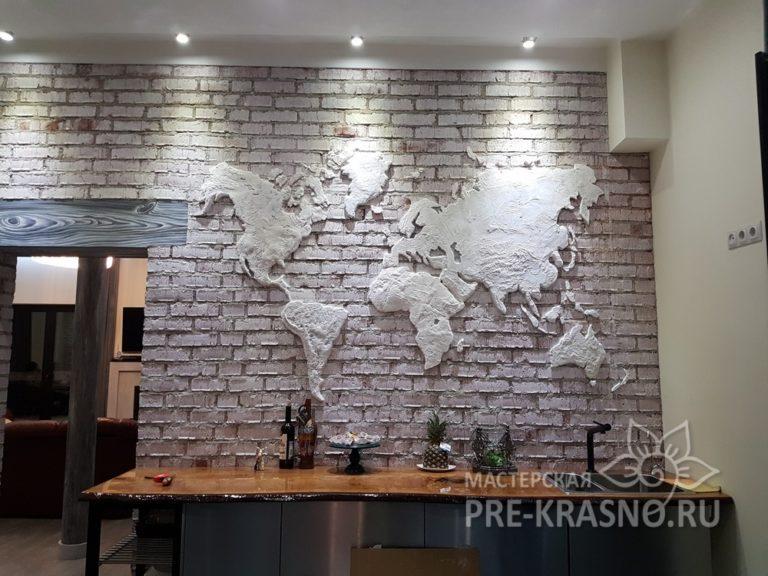 Барельеф карта мира - Юлия Чистякова