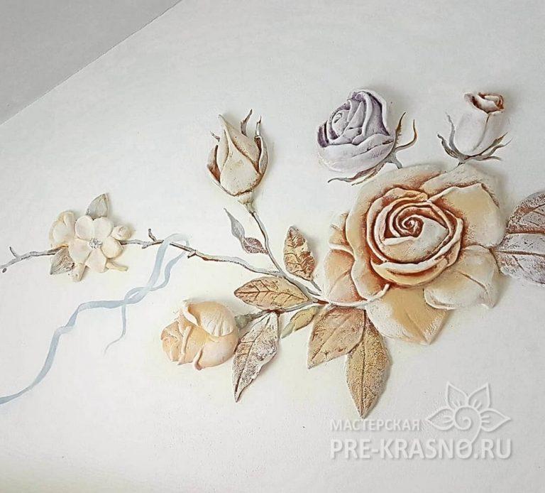 Барельеф цветы - Юлия Чистякова