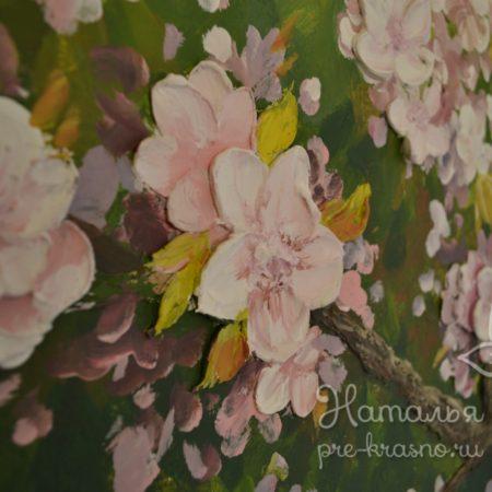 Барельеф на стене «Яблочный сад»