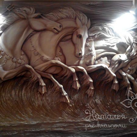 Лошади Нептуна барельеф / Neptun Horses basrelief
