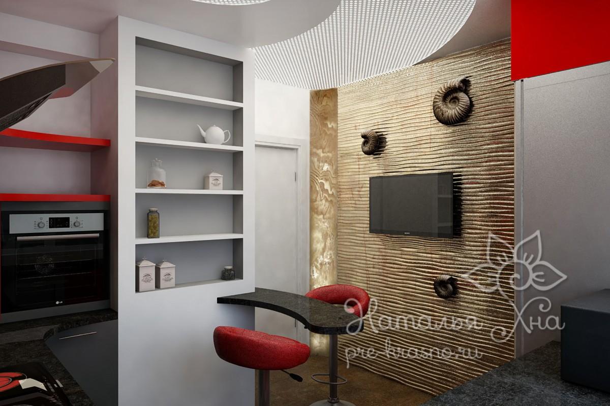 """tv kitchen 001 - 3D панель для передачи """"Квартирный вопрос"""""""