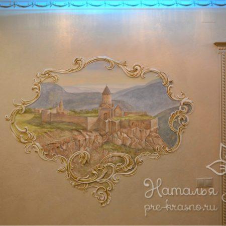 Барельеф «Монастырь Татев в Армении»