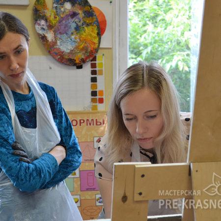 Анастасия Зорина и Наталья Хна на мастер-классе
