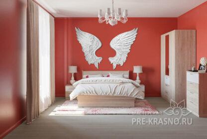 Белые крылья ангела из гипса