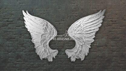 Крылья Ангела, гипсовый декор-барельеф