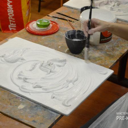 Мастер-классы и обучение барельефу на индивидуальных занятия с Натальей Хна. Изучаем технику моментальной гладкости при создании гипсовых панно без резьбы