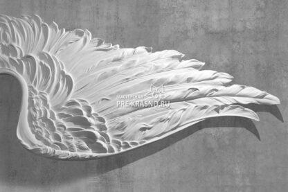 Крылья ангела барельеф