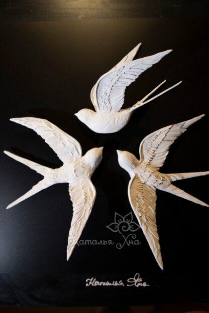 Гипсовые птицы декор на стену своими руками