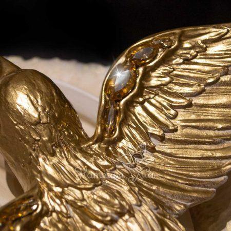Декор птицы на стену объемные Золотые ласточки07