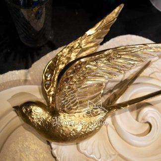 dekor pticzy na stenu obemnye zolotye lastochki16 324x324 - Золотые ласточки. Гипсовое панно с птицами на стену