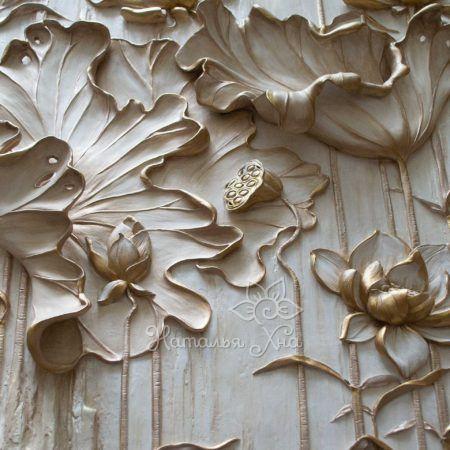 Водяная лилия барельеф-панно с подсветкой12