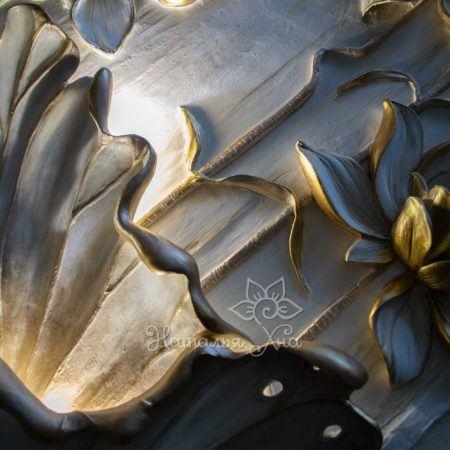 Водяная лилия барельеф-панно с подсветкой15