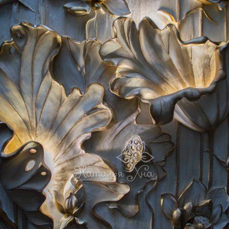 Водяная лилия барельеф-панно с подсветкой19