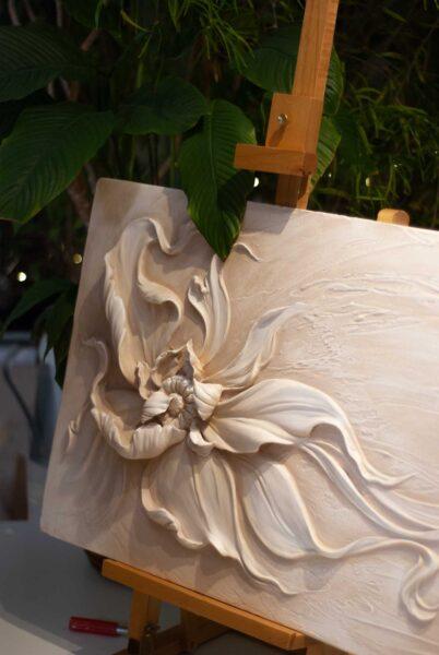 barelef czvety master klass 5839 402x600 - Барельеф цветы мастер класс для Натальи Бойко