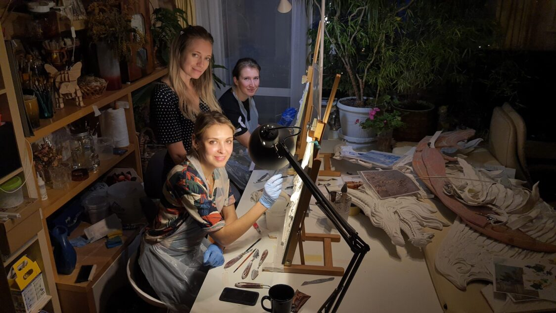 masterklass barelef vinogradnaya loza1 1124x632 - Анна Байкова