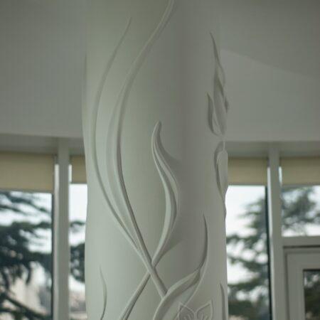 oformlenie dekor kolonn barelefom krym 14 450x450 - Оформление колонн барельефом в Крыму