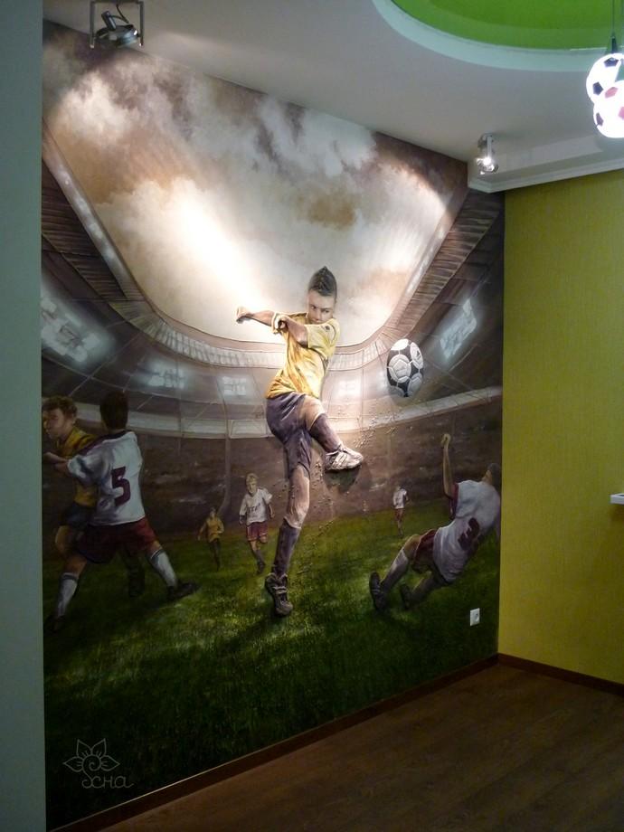 Роспись стен в детской комнате. Наталья Хна.