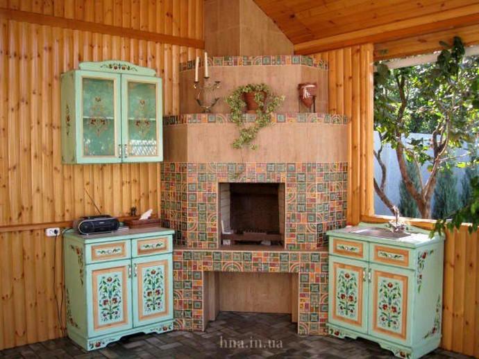 Роспись стен в кухне / мебель
